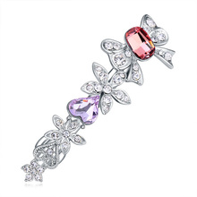 Btime High Quality Flower Hair Accessories Crystal Hair Clip Jewelry Crystals From Swarovski 3 Optional Crystals From Swarovski(China)