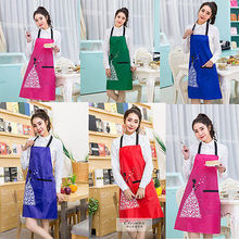 2017 New 5 Colors Cooking Baking Aprons Kitchen Apron Restaurant Anti Oil Waterproof Bib Aprons For Women Home