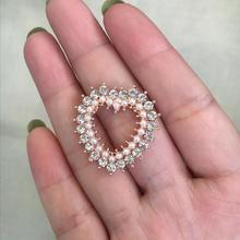 3 Pieces/lot 18mm Width Flat Back Rose Gold Button For Invitation Alloy Rhinestone Button Pearl Button Decoration For Wedding