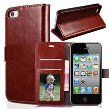 PU Leather Case for Apple iPhone 4s iphone 4 Case iphone 4G Fashion Wallet Flip Retro Cover for iphone4s Phone Cases