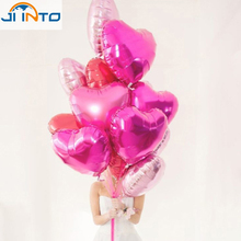 10Pcs/lots pink heart Foil Helium Balloons Birthday Party Wedding Decoration Supplies Kids Gift Classic Toy Balloons