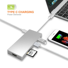 USB 3.1 Type C to HDMI 4K 30Hz 3xUSB3.0 Hub TF SD Card USB-C Female Charging(China)