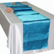 1PC Wedding Party Decorative Red Blue Satin Table Runner Hotel Banquet Purple Table Runners Home Decoration 30*275cm