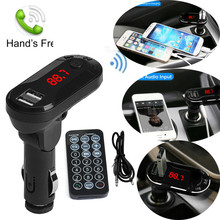 2017 hot sale fashion Car MP3 Audio Player Bluetooth Wireless FM Transmitter MP3 Player Handsfree Car Kit USB TF SD LCD Display(China)