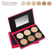 Perfect Summer Hot Sale Professional 6 Color Pressed Face Powder Palette Nude Makeup Contour Cosmetic Foundation Powder
