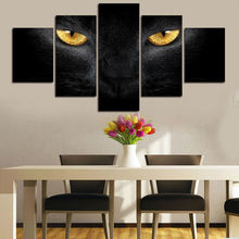 Large HD Modular Pictures 5P Wolf Eyes Modern Painting on Canvas Cuadros Decor Poster Top-rated Wall Pictures For Living Room(China)