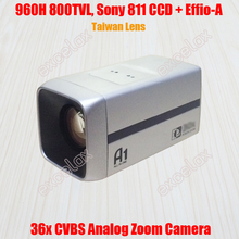 "NEW 960H D1 800TVL Analog 36x 26x Optical 1/3"" Sony 811 810 CCD Effio-A 4151 CCTV Zoom Camera ICR IR CUT Auto Focus Box Camera"