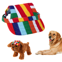 Dog Caps Cute Pet Dog Casual Baseball Cap Oxford Canvas Sun Hat with Ear Holes Breathable Cap for Puppy Pet Supplies(China)