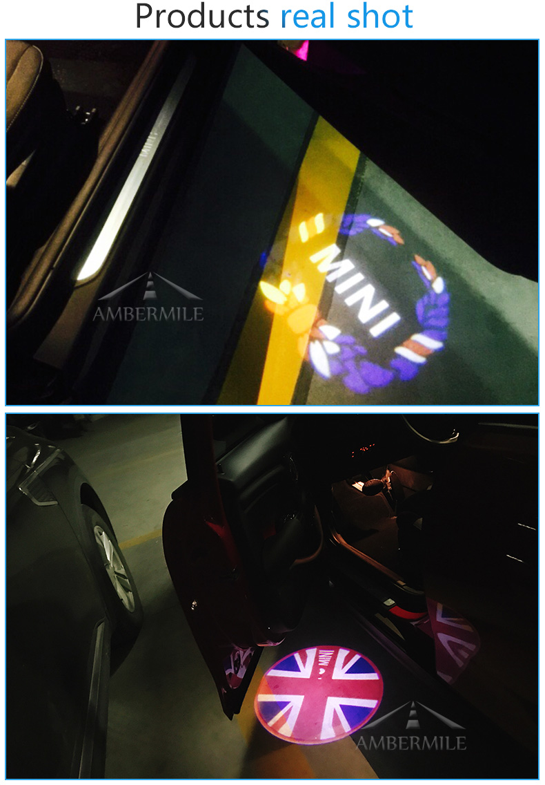 LED Car Door Shadow Light Laser Projector Logo Welcome Lights for Mini Cooper Countryman Accessories Car Styling (7)
