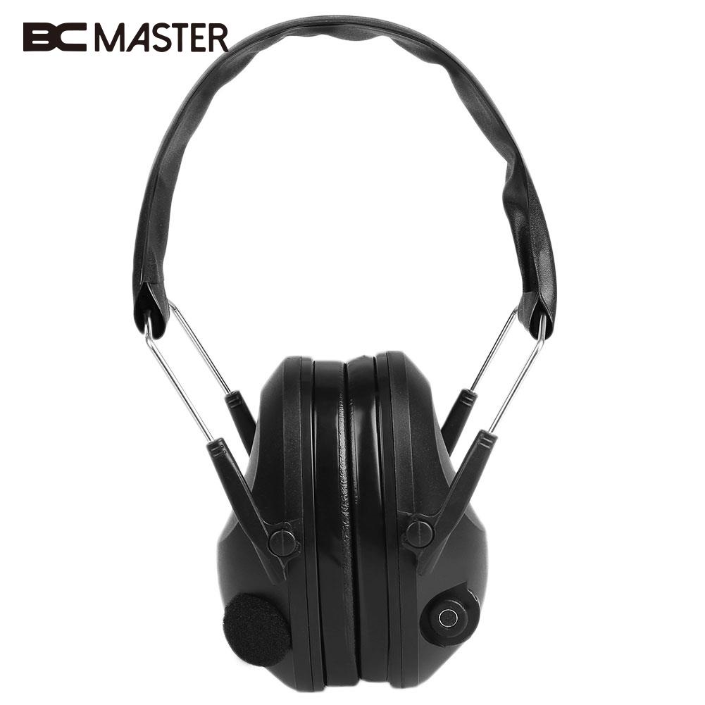BCMaster Tactical Anti-Noise Impact Electronic Earmuff Fold Ear Hunting Earmuffs 21SNR<br>