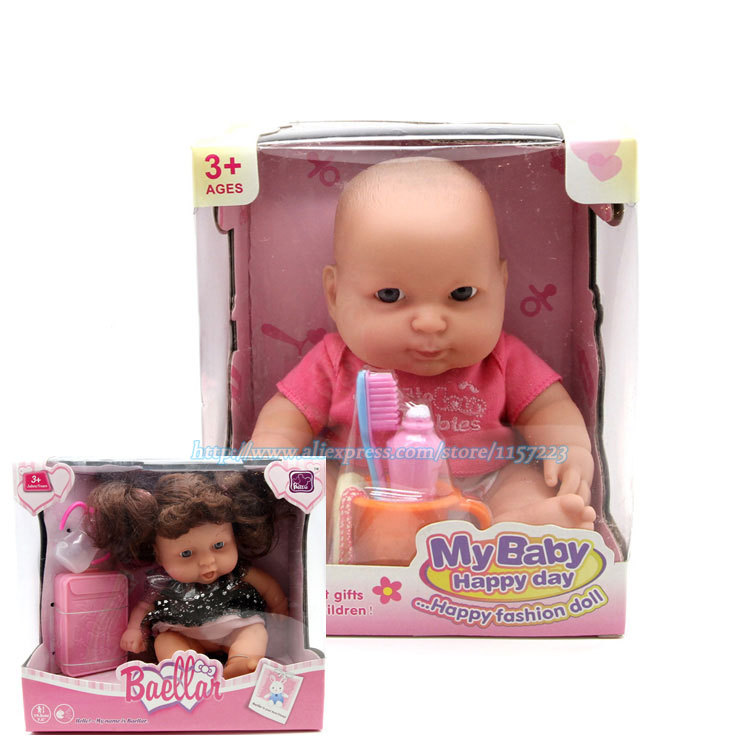 Silicone Simulation Reborn Baby Dolls Baby Hobbies Kids Toys Realistic Childen Gift 18cm<br><br>Aliexpress