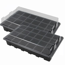 24 Cells Hole Plant Seed Tray Plastic Nursery Tray with Lid Garden Plant Germination Kit Grow Box Seeding Nursery Pot Greenhouse(China)
