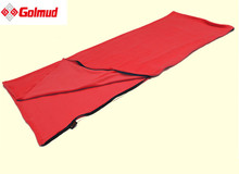 Free shipping light weight portable fleece sleeping bag summer spring autumn outdoor camping sleeping bags(China)