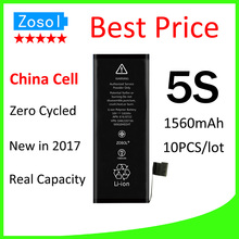 10pcs/lot Hot selling OEM 0 zero cycle Full Capacity Battery for iPhone 5S 1560mAh 3.7V Replacement Repair Parts(China)