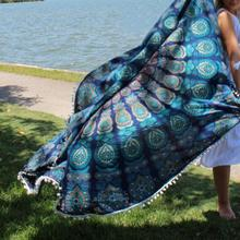 Indian Mandala Beach Towel Round Tassel Fringing Bath Towel Yoga Mat Fashion Large Tablecloth