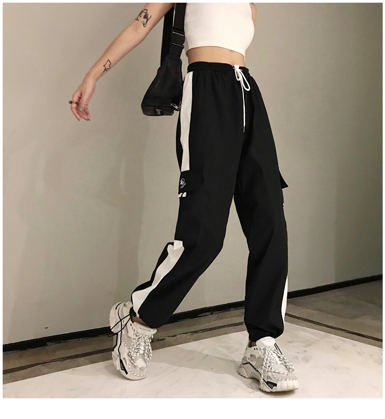 Hot Big Pockets Cargo pants women High Waist Loose Streetwear pants Baggy Tactical Trouser hip hop high quality joggers pants 22