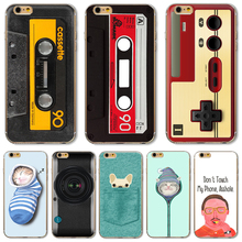 6/6S TPU Cover For Apple iPhone 6 6S Cases Phone Shell Classical Patterns Fierce Man Recreational Machines Magnetic Tape