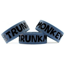 300pcs one inch Trunk Monkey wristband silicone bracelets free shipping by DHL express(China)