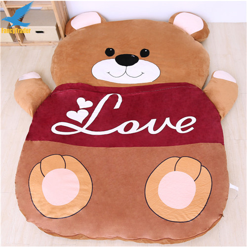 Fancytrader 2018 Giant Plush Stuffed Cartoon Love Bear Sofa Bed Sleeping Bed with Padding 2 Sizes (3)