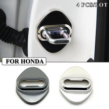 Buy Car-styling Stainless Steel car covers Door lock cover case HONDA civic accord crv fit hrv accessories car styling sticker for $3.80 in AliExpress store