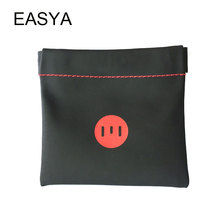 EASYA Portable Earphone Bag Headphones Case Earphones Accessories PU Leather Carrying Pouch High Quality Storage Headset Box