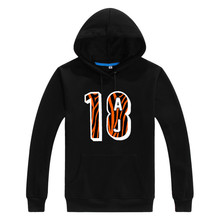 2017 High quality AJ Green Cincinnati 18 Logo Men Sweashirt Women fashion hoodies 1018-2(China)