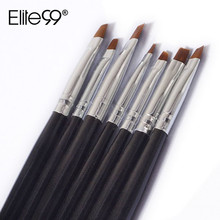 Elite99 7pcs/Set DIY Professional Nail Art Design painting Tool Pen Polish Brush Set Gel UV Nail Print Brush Kit