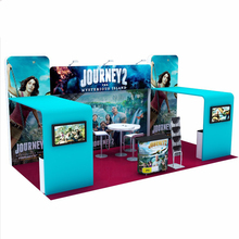 20ft Portable Tension Fabric Trade Show Display Booth System pop up stand banner exhibit with TV Mount