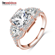 LZESHINE 2016 New Wedding Rings Gold/Silver Color Micro Inlay Zircon Angel Wings Rings Wholesale anillos de boda CRI0005