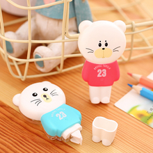 1 Pc Cartoon Correction Tape 5mmx6m Students' Stationery Lovely Creative The Little Cat 2 Colors Deli 7297(China)
