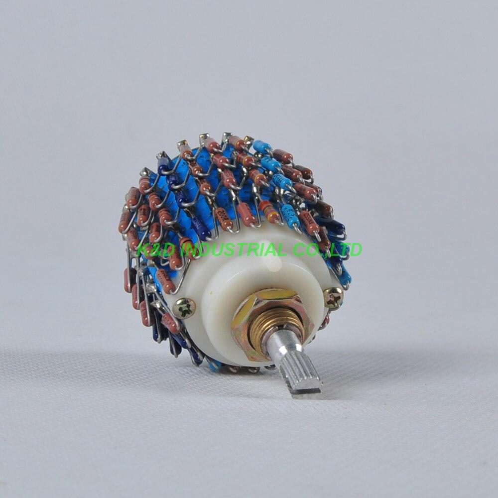 1pc 4Pole 24Step DALE 4channel 4Way Attenuator Volume Pot 100K Fr Tube Amplifier<br>
