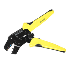 Meterk Professional multitool Wire Crimper Engineering Ratchet Terminal Crimping Pliers JX-02C 0.25-2.5mm2 Insulated Terminals