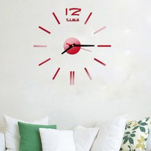 HOT Fashion Wall Clock Acrylic Plastic Mirror Wall Home Decal Decor Vinyl Art Wall Clock Stickers for Home Bedroom