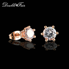 Buy DFE035M OL Style Cubic Zirconia Stud Earrings Rose Gold/Silver Color Fashion CZ Stone Jewelry Earring Women brincos for $1.94 in AliExpress store