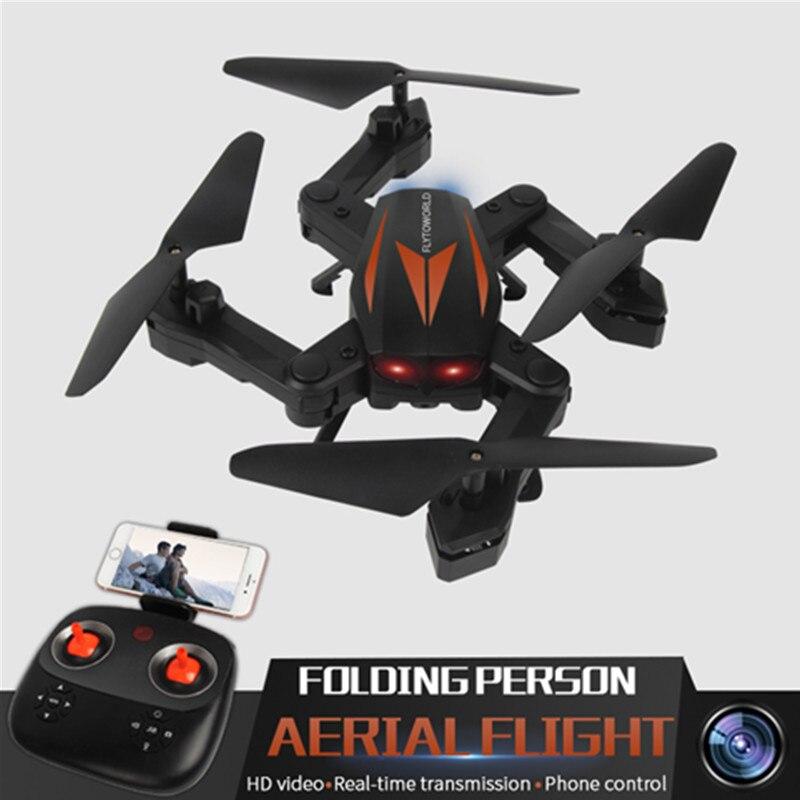 RC Quadcopter Dream Flood F12W Wifi 2.4G FPV Foldable 0.3MP HD Camera Headless Mode – Black orange