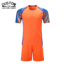 New Soccer Jerseys 2016 2017 Thai Quality Men's Soccer Shirts Breathable Football Training Suit Soccer Team Sporting Jersey Sets(China)