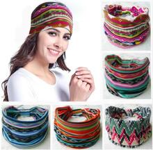 Bohemia BOHO Wide Cotton Stretch Women Headbands Headpiece Headwrap Turban Headwear Bandage Hair Bands Bandana Fascinator(China)