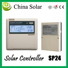 Solar Hot Water Heater controller SP24, controller electric heater and gas boiler as auxiliary heating device these 2 system