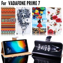 PU Leather Mobile Phone Cases Covers For Vodafone Smart Prime 7 VFD600 VF600 E Smart Prime7 Wallet Flip Housing Bags Shell Hood