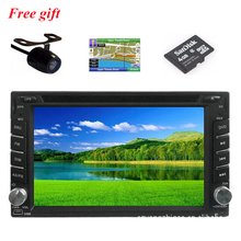 In dash 2 din car radio dvd  with gps bluetooth radio ipod steering wheel control Analog TV  Russian language rear view camera
