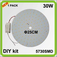 2 year warranty DIY kits 30W round LED down light surface mounts disk led techo PCB led plate circular tube=80w 2D tube
