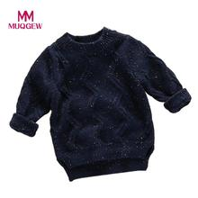 Autumn winter Sweater Baby Knitted 2017 Fashion Casual Toddler Boys Sweater Cotton Pullover Baby Girl Sweaters Hot Sale #JD450(China)