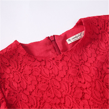 Knitted Girl Dress Long Sleeve Weeding Party Costume For Long Sleeve Red Lace Girls Dess Flower Clothing 70C1163(China)