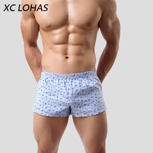 Hot Sale Men Boxer Shorts Trunks Slacks Cotton Cueca Underwear Printed Mens Underpants Panties Casual Soft Homme Homewear(China)