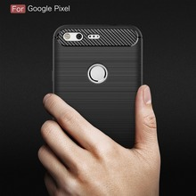 Newest Anti-drop Soft Carbon Fiber Luxury TPU Case For Google Pixel Back Cover For Google Pixel phone cases(China)