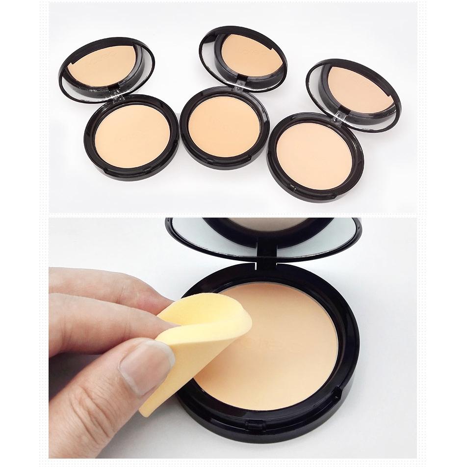 ROREC Mineral Pressed Face Powder Concealer Base Makeup Performance Wear Powder Foundation Compact Powder Makeup Illuminator 18