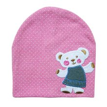 Newborn Crochet Baby Beanie Cap Autumn Girl Boy Infant Cotton Cartoon Cute Bear Pattern Winter Hat