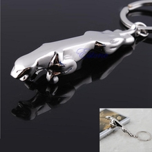 Hot Jaguar Silver Pattern Key Ring Chain 3D Keychain New Fashion Cute Lover Gift