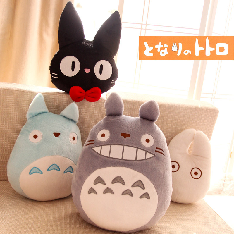 4pcs/set Miyazaki Hayao Anime My Neighbour Totoro/Kikis Delivery Service kawaii plush doll cushion/Pillow toys free shipping<br><br>Aliexpress