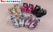 5 Colors Children Sneakers  Spring Autumn Children Shoes  the LED girls' sports shoes han edition bright shoes Size 21-25